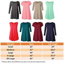 Viv Collection Size Chart Viv Collection Long 3 4 Sleeveless Short Flare Hem Tunic Top Made In Usa