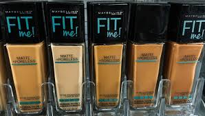 Maybelline Fit Me Foundation Shades Chart Maybelline Fit Me Foundation Review Dewy Smooth Matte
