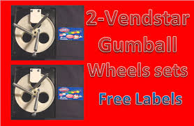 Vendstar Vending Machines Cool 48 PACK Vendstar Vending Machine 48 Gumball Wheel Sets With FREE