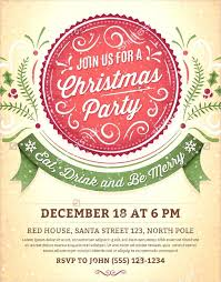 Christmas Party Flyer Templates Microsoft Christmas Party Invite Template Together With Party Te Template