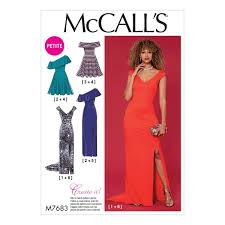Mc Calls Patterns Custom McCalls Patterns M48 Misses Miss Petite Dresses with Shoulder and