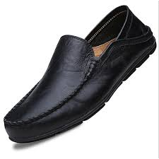 big size 45 46 summer genuine leather shoes men casual moccasins mens slip on loafers