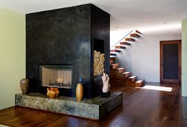 a balinese home in west hollywood architects and artisans custom venetian plaster fireplace
