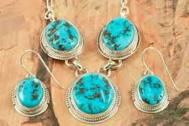 sleeping beauty turquoise necklace and earrings set treres of the southwest
