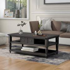 dark gray rectangle wooden coffee table