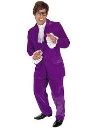 Fun Shack Adult Austin Powers Purple Costume: Fun Shack: Amazon.co ...