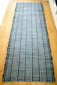 cotton rag rugs washable cotton rag rug hand made runner in denim and neutral 2 x