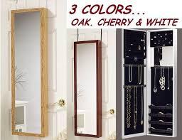 mirror jewelry armoire door hanging