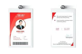 Free Id Badge Template Id Badge Template Word Merit Blue Card Helenamontana Info