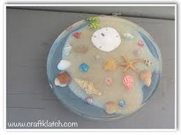 beachy seashell and sand coaster another coaster friday diy