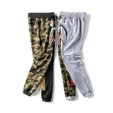 Designer Camo Pants Fashion Mens Designer Pants A Bathing Aape Hip Hop Camo Shark Cotton Ape Designer Wear For Mens Street Clothing Vetements