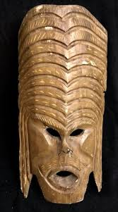 a vintage very large interesting african tribal mask with shaman yao masks influence hand carved natural wood catawiki