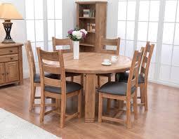 lucene oak 156cm round dining table