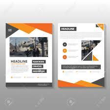 Handbill Template Orange Vector Annual Report Leaflet Brochure Flyer Template Design