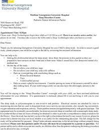 University Hospital Doctors Note Medstar Georgetown University Hospital Sleep Disorders