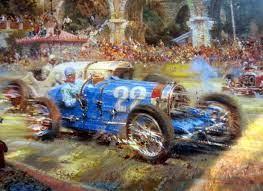 Limited time sale easy return. Le Pur Sang Des Automobiles Monaco Grand Prix 1931 Bugatti T51 Louis Chiron Alfredo De La Maria Racehistory Art