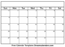 Printable Free Monthly Calendars Free Printable Monthly Calendar With Large Boxes Skymaps