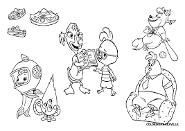 Small Picture Chicken Little Coloring Pages Foxy Loxy Coloring Pages In Coloring
