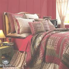 country style bedding bedroom rustic red log cabin twin queen cal king quilt bedding set for
