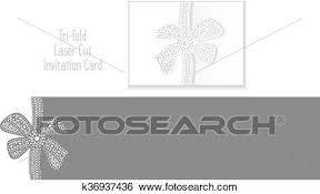 Invitation Envelope Template Laser Cut Envelope Template Clip Art K36937436 Fotosearch