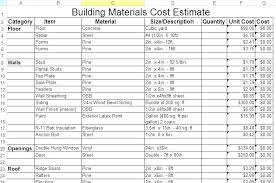 Building Cost Estimate Template Excel Construction Mating