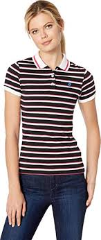 Us Polo Assn Size Chart U S Polo Assn Womens Stripe Polo At Amazon Womens