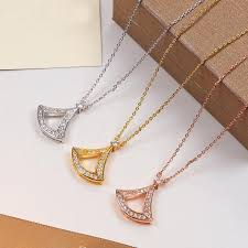 whole water drop pendant with full cz diamond rose gold silver color necklace for women vintage collar costume jewelry with original box set silver
