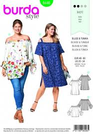 Plus Size Patterns Extraordinary Plus Sizes Sewing Patterns Burda Patterns