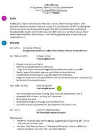 Cv For Teaching Teacher Cv Examples Templates And Guidance Cv Template Master