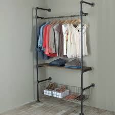 garment racks made with pipe and ings give an feel and are extremely durable