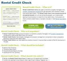Rental Credit Check Forms Free Download And Software Reviews