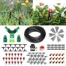 40 pathonor micro drip irrigation kit 40m 131ft garden irrigation system adjustable nozzle automatic watering kits