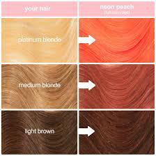Neon Peach Hair Color Clean Vibrant Peach