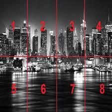 new york city at night skyline view black white wallpaper mural photo giant wall poster decor art amazon co uk diy tools