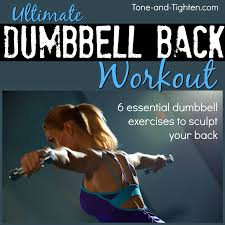 six of the best exercises to sculpt and tone your back all with just a pair of dumbbells at home or in the gym this effective dumbbell back workout