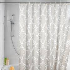 grey patterned fabric shower curtains for bathroom decoration