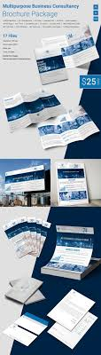 tri fold brochure word pdf psd eps multi purpose business consultancy package