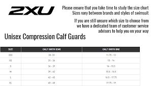 2xu Unisex Compression Calf Guards Black