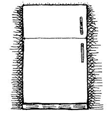 refrigerator clipart black and white. Plain Black On Refrigerator Clipart Black And White A
