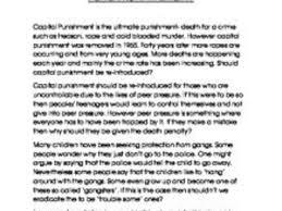 capital punishment essay capital punishment gcse religious should we re introduce capital punishment gcse