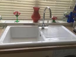 Reginox White Ceramic Kitchen Sink Almost New Very Slight Small Hair