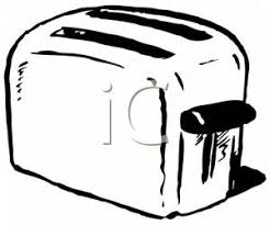 toaster clipart black and white. a black and white toaster clipart picture e