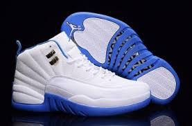 jordan tennis shoes. nike air jordan 12 xii retro white university blue melo men shoes 136001 142 tennis r