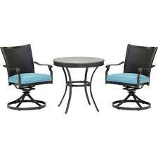 glass blue round patio dining
