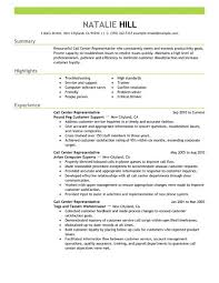 Simple Call Center Representative Resume Example | LiveCareer