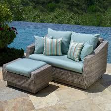 blue wicker patio furniture outdoor patio wicker