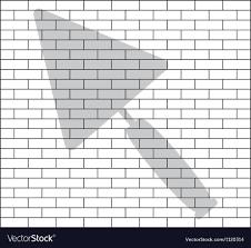 stencil of brick wall vector image