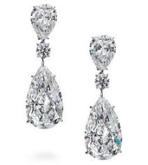 earrings with 10 25 carat and 10 05 pear shaped diamonds with 3 22 carat and