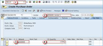 What Is A Purchase Order Number How To Create A Purchase Order Me21n In Sap
