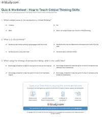 Critical thinking skills in developing leadership  Shahid Hussain Mir    Critical Thinking for ESL Classrooms